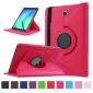 360 Degree Rotating Stand Litchi Leather Cover Case for Samsung Galaxy Tab S2 9.7 T815 - Hot pink
