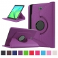 360 Degree Rotating Stand Litchi Leather Cover Case for Samsung Galaxy Tab S2 9.7 T815 - Purple