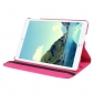 360 degree Rotating Tablet Cover Flip Leather Case for iPad Mini 4 - Hot pink
