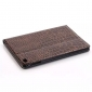 Crocodile Texture Flip Stand Leather Case for iPad mini 4 with Card Slots - Brown