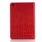 Crocodile Texture Flip Stand Leather Case for iPad mini 4 with Card Slots - Red