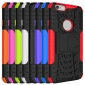 Dual Layer Hybrid Shockproof Rugged TPU Hard Back Case For iPhone 6S - Red