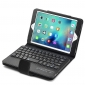 Bluetooth Wireless Detachable Keyboard + Leather Stand Case for iPad Mini 4 - Black