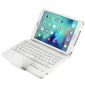 Bluetooth Wireless Detachable Keyboard + Leather Stand Case for iPad Mini 4 - White