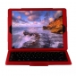 Removable Bluetooth Keyboard PU Leather Case for iPad Pro 12.9 inch 2018 - Red