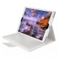 Removable Bluetooth Keyboard PU Leather Case for iPad Pro 12.9 inch 2018 - White
