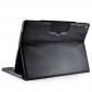 Detachable Wireless Bluetooth Keyboard Lichi Pattern Leather Stand Case For iPad Pro - Black
