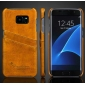 Hard Back Cover Case With Card Slot/Credit Card Back Cover Case For Samsung Galaxy S7 Edge - Yellow