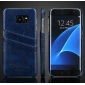 Hard Back Cover Case With Card Slot/Credit Card Back Cover Case For Samsung Galaxy S7 Edge - Dark Blue