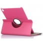 360 Rotating Mutil-angle Stand Leather Case For iPad Pro 9.7 Inch - Hot Pink