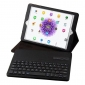 Removable Bluetooth Keyboard Stand Leather Case for iPad Pro 9.7 inch - Black