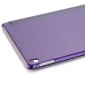 Ultra Slim Transparent Magnetic Leather Smart Cover Case For iPad Pro 9.7 inch - Purple