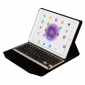 Wirelss Bluetooth Aluminum Keyboard  Stand PU Leather Case for iPad Pro 9.7 inch - Champagne Gold
