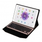 Wirelss Bluetooth Aluminum Keyboard  Stand PU Leather Case for iPad Pro 9.7 inch - Pink