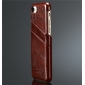 Wax Oil Leather Credit Card Wallet Slot Case Cover For iPhone 7 4.7 inch - Brown