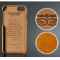 Wax Oil Leather Credit Card Wallet Slot Case Cover For iPhone 7 4.7 inch - Orange