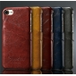 Wax Oil Leather Credit Card Wallet Slot Case Cover For iPhone 7 4.7 inch - Wine Red