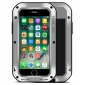 Aluminum Metal Shockproof Waterproof Gorilla Glass Cover Case For iPhone 7 4.7 inch - Silver