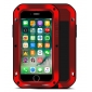 Aluminum Metal Shockproof Waterproof Gorilla Glass Cover Case For iPhone 7 Plus 5.5 inch - Red