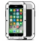 Aluminum Metal Shockproof Waterproof Gorilla Glass Cover Case For iPhone 7 Plus 5.5 inch - White