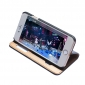 Double View Window Side Flip Stand PC+Genuine Leather Case for iPhone 7 - Black