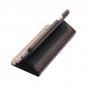Double View Window Side Flip Stand PC+Genuine Leather Case for iPhone 7 - Brown