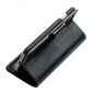Genuine Luxury Cowhide Leather Flip Case Cover for iPhone 7 - Black