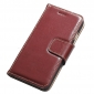 Genuine Luxury Cowhide Leather Flip Case Cover for iPhone 7 - Wine Red