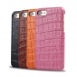 Crocodile Real Leather Back Cover Protective Case for iPhone 7 - Black