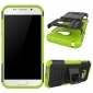 Shockproof Heavy Duty Combo Hybrid Rugged Dual Layer Grip Cover with Kickstand For Samsung Galaxy A5 2017 - Green