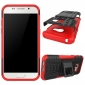 Shockproof Heavy Duty Combo Hybrid Rugged Dual Layer Grip Cover with Kickstand For Samsung Galaxy A5 2017 - Red