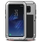 Alloy Aluminum Metal Bumper Soft Rubber Military Heavy Duty Shockproof Hard Case For Samsung Galaxy S8+ Plus - Silver