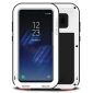 Alloy Aluminum Metal Bumper Soft Rubber Military Heavy Duty Shockproof Hard Case For Samsung Galaxy S8+ Plus - White
