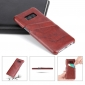Galaxy S8 Case Back Cover Oil Wax Pattern PU Leather Case with 2 Credit Card Slot for Samsung Galaxy S8 - Red