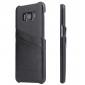 Litchi Premium Genuine Leather Back Case with Card Holder for Samsung Galaxy S8 - Black