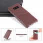 Litchi Premium Genuine Leather Back Case with Card Holder for Samsung Galaxy S8 - Brown
