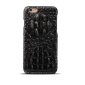 Crocodile Head Real Cowhide Leather Back Case Cover for iPhone 7 4.7 inch - Black