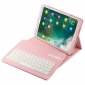 Detachable Wireless Bluetooth Keyboard Leather Stand Case For iPad Pro 10.5 inch - Pink