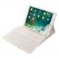 Detachable Wireless Bluetooth Keyboard Leather Stand Case For iPad Pro 10.5 inch - White