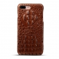 Luxury Crocodile Head Cowhide Leather Back Case Cover for iPhone 7 Plus 5.5 inch - Brown