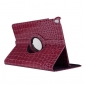 Rotating Crocodile PU Leather Case with Stand for iPad Pro 10.5 inch  - Purple