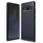 Carbon Fiber TPU Case For Samsung Galaxy Note 8 Silicone Phone Shockproof Armor Cover - Navy Blue