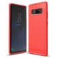 Carbon Fiber TPU Case For Samsung Galaxy Note 8 Silicone Phone Shockproof Armor Cover - Red