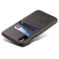 Caseswill Case for iPhone X Back Wallet Card Slot Leather Cover - Black