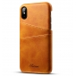 Caseswill Case for iPhone X Back Wallet Card Slot Leather Cover - Brown