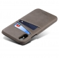 Caseswill Case for iPhone X Back Wallet Card Slot Leather Cover - Grey