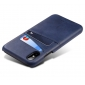 Caseswill Case for iPhone X Back Wallet Card Slot Leather Cover - Navy Blue