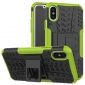 Hybrid PC + TPU Stand Back Cover Case For iPhone X - Green