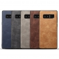 Retro Leather Slim Back cover Case Skin For Samsung Galaxy Note 8 - Navy Blue