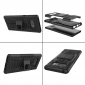 Shockproof Hybrid Dual Layer Protective Stand Case for Samsung Galaxy Note 8 - Black